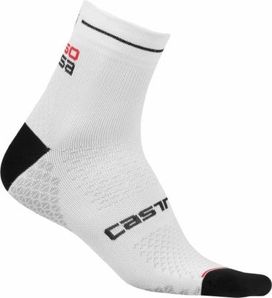 Castelli Women's Rosa Corsa Due Sock - White - Classic Cycling