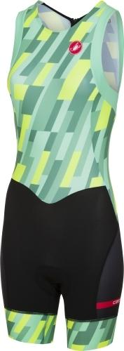 Castelli Women's Short Distance W Race Suit - Green - Classic Cycling