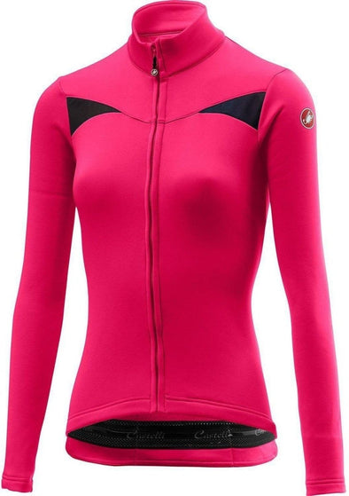 Castelli Women's Sinergia Jersey FZ - Magenta - Classic Cycling