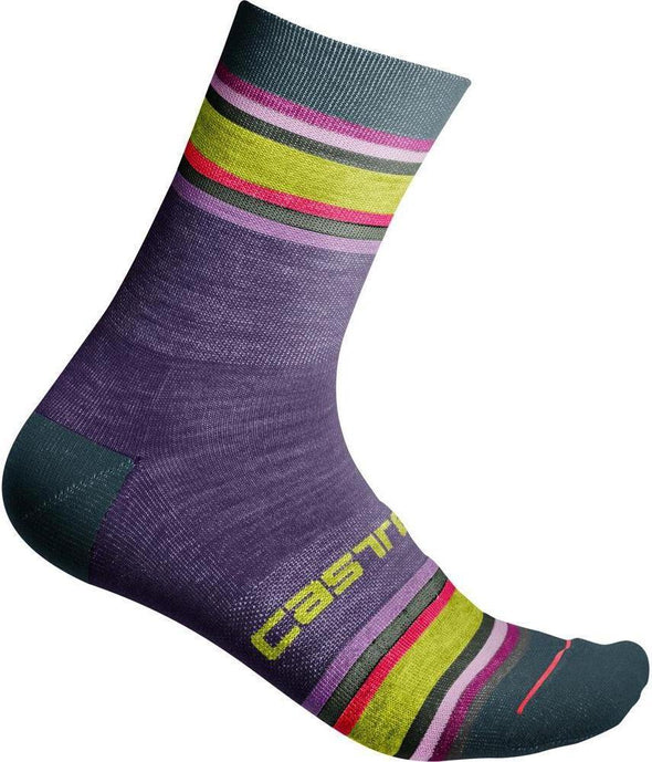 Castelli Women's Striscia 13 Sock - Purple - Classic Cycling