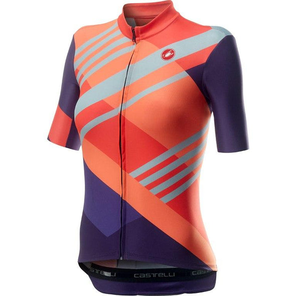 Castelli Women's Talento Jersey - Multicolor Brilliant Pink - Classic Cycling