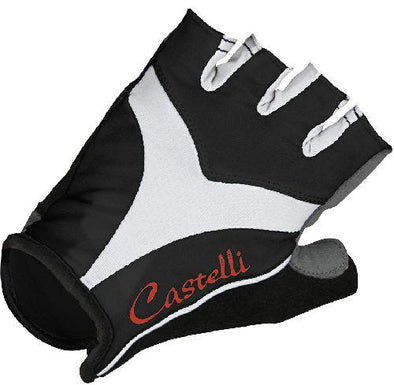 Castelli Women's Tenacia Cycling Glove - Black White - Classic Cycling