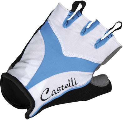 Castelli Women's Tenacia Cycling Glove - White-Azure - Classic Cycling