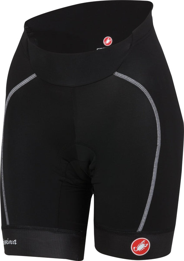 Castelli Womens Velocissima Short - Black - White - Classic Cycling