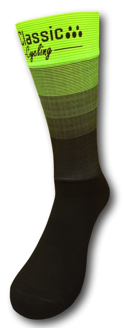 Classic Cycling Aero Extra Tall Sock - Fluo Yellow - Classic Cycling