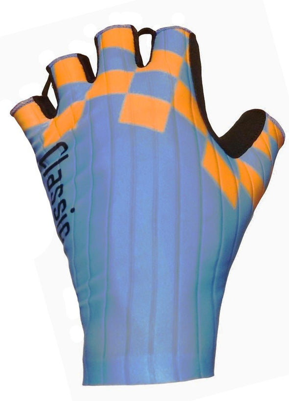 Classic Cycling Aero Gloves - Blue Orange - Classic Cycling
