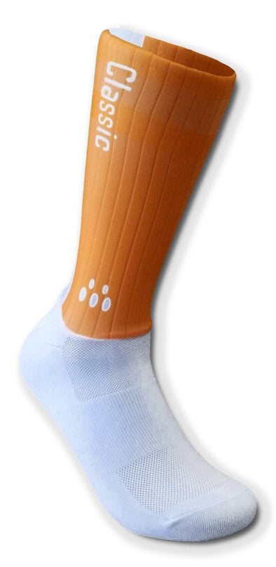 Classic Cycling Aero Socks - Orange - Classic Cycling