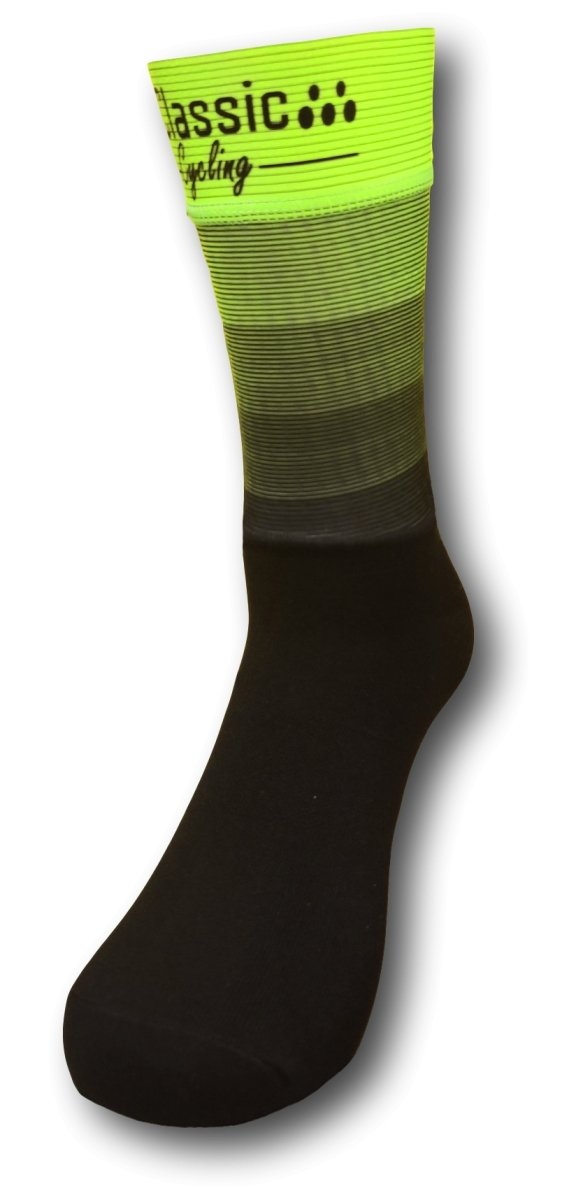 Classic Cycling Aero Tall Sock - Fluo Yellow - Classic Cycling