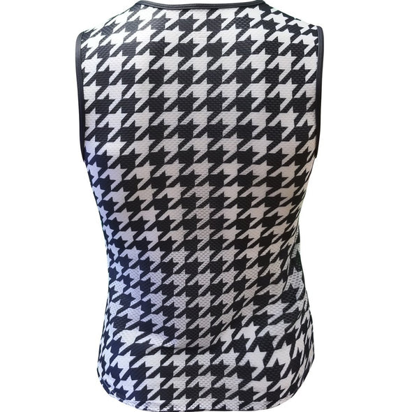 Classic Cycling Base Layer Black Houndstooth - Classic Cycling