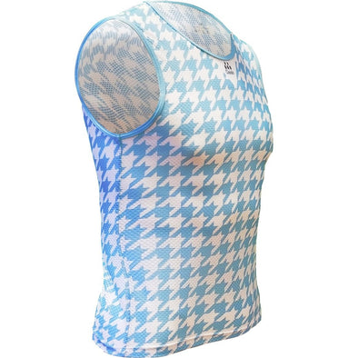 Classic Cycling Base Layer Blue Houndstooth - Classic Cycling