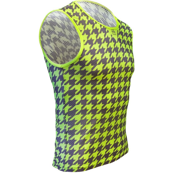 Classic Cycling Base Layer Fluo Houndstooth - Classic Cycling