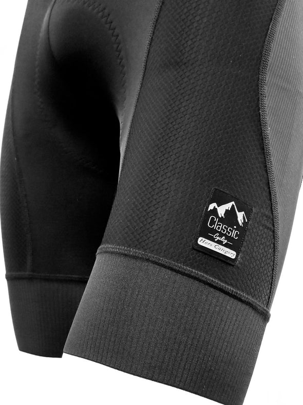 Classic Cycling Hors Category Century Compression Bib Short - Black - Classic Cycling