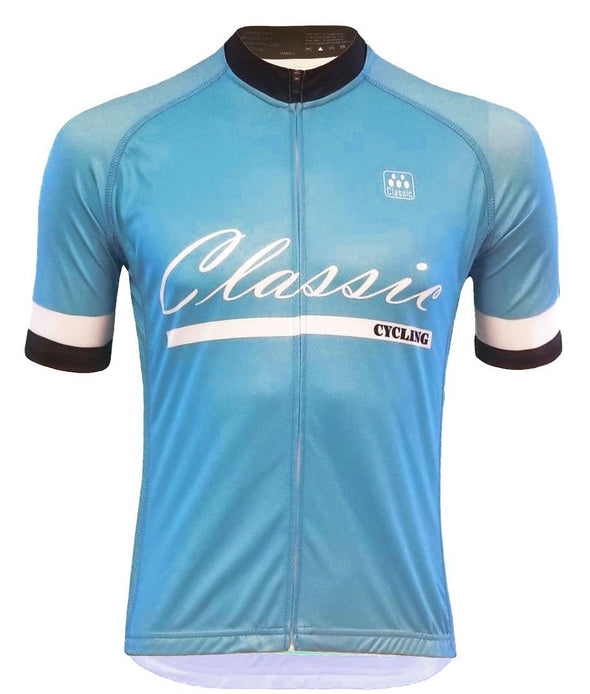 Classic Cycling Men's Fondo Jersey - Blue - Classic Cycling