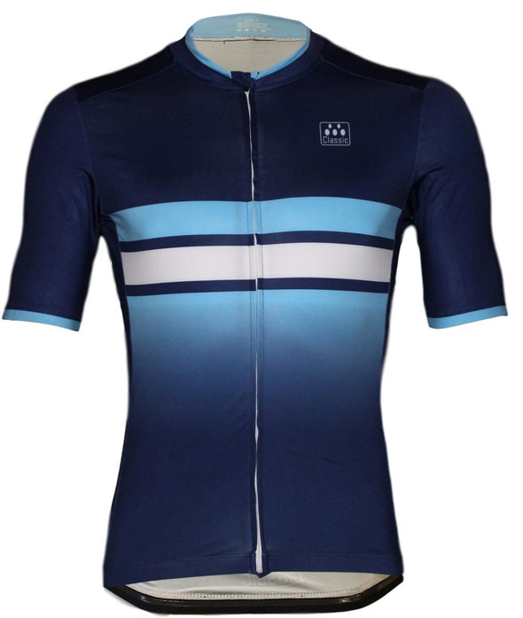 Classic Cycling Navy Fade Jersery - Classic Cycling
