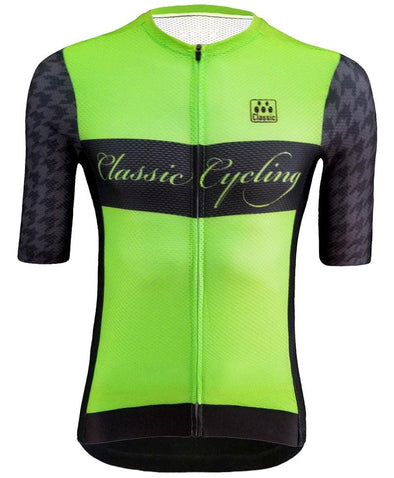 Classic Cycling Pista Jersey - Houndstooth - Classic Cycling