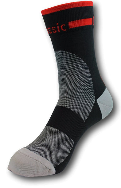 Classic Cycling Sock - Black and Red - Classic Cycling