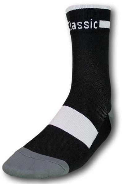 Classic Cycling Sock - Black w- White Accents - Classic Cycling