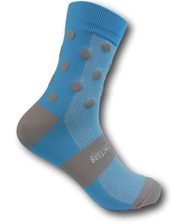 Classic Cycling Sock - Blue and Gray - Classic Cycling