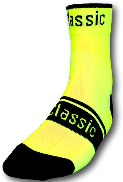 Classic Cycling Sock - Fluo Yellow - Classic Cycling