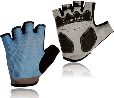 Classic Cycling Summer Gloves - Light Blue - Classic Cycling