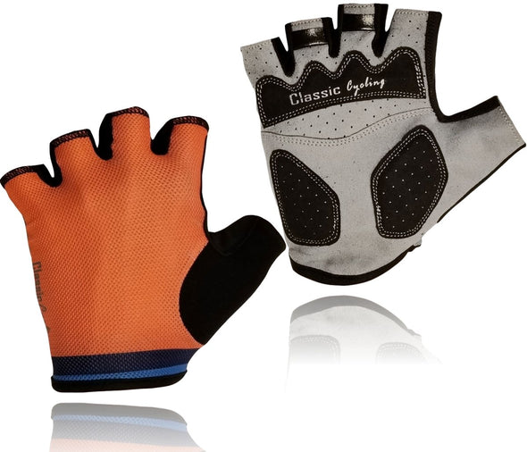 Classic Cycling Summer Gloves - Orange - Classic Cycling