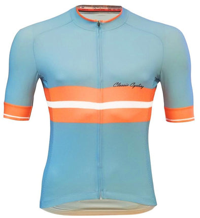 Classic Cycling Tour Jersey - Light Blue - Classic Cycling
