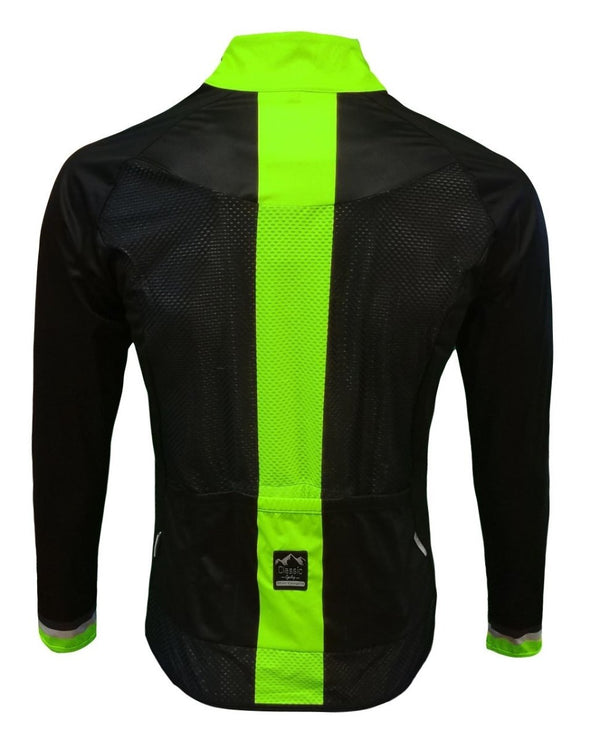 Classic Cycling Wind Jacket - Black with Fluo - Classic Cycling