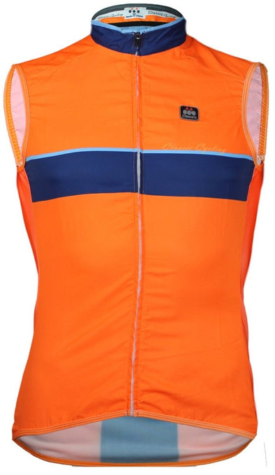 Classic Cycling Wind Vest - Fluo Orange - Classic Cycling