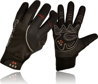Classic Cycling Winter Windproof Gloves Black - Classic Cycling