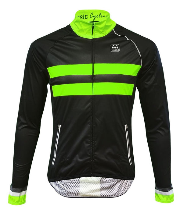 Classic Cycling Women's Wind Jacket - Black with Fluo - Classic Cycling