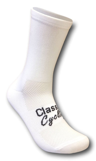 Classic Cycling Equipe Socks - White - Classic Cycling