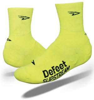 DeFeet Slipstream Shoe Cover- Oversock High Visibility - Classic Cycling
