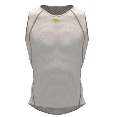 DeFeet UnDLite Recycled Sleeveless Tank White - Classic Cycling