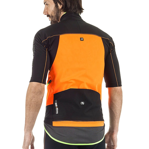 Giordana A +V 200 Short Sleeve Winter Jacket - Orange-Black - Classic Cycling