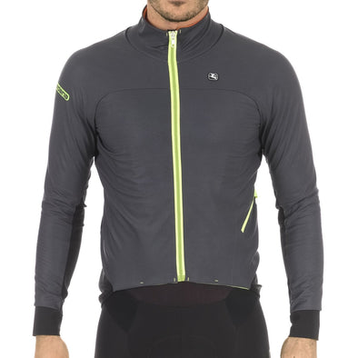Giordana AV EXTREME Jacket - Charcoal-Fluo Yellow - Classic Cycling