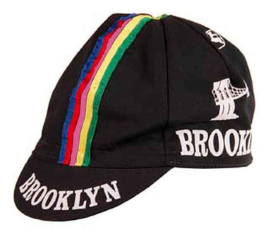 Giordana Brooklyn Cycling Cap w- Stripes - Black - Classic Cycling