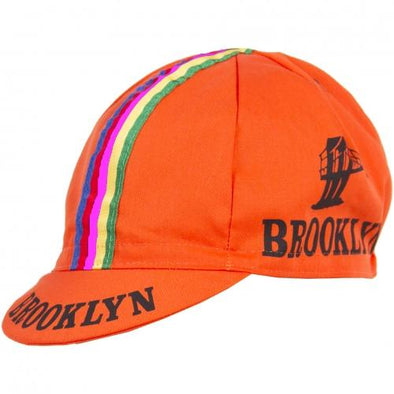 Giordana Brooklyn Cycling Cap w- Stripes – Orange - Classic Cycling