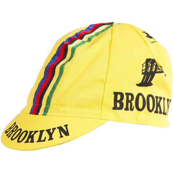 Giordana Brooklyn WC Cycling Cap - Yellow - Classic Cycling