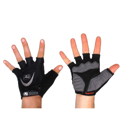 Giordana Corsa Cycling Gloves - Black - Classic Cycling
