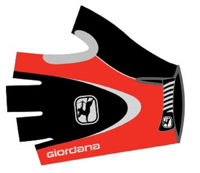 Giordana Corsa Cycling Gloves - Red - Classic Cycling