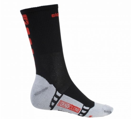Giordana Cycling Socks Forma Red Tall Cuff Black Red - Classic Cycling