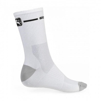 Giordana Cycling Socks Trade Tall Cuff - White-Black - Classic Cycling