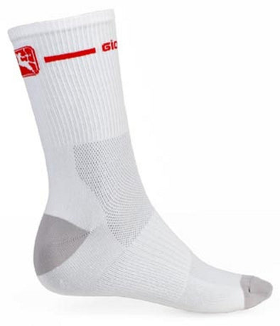 Giordana Cycling Socks Trade Tall Cuff White Red - Classic Cycling