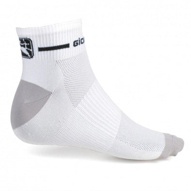 Giordana Cycling Women's Trade Sock Low Short Cuff - White-Black - Classic Cycling