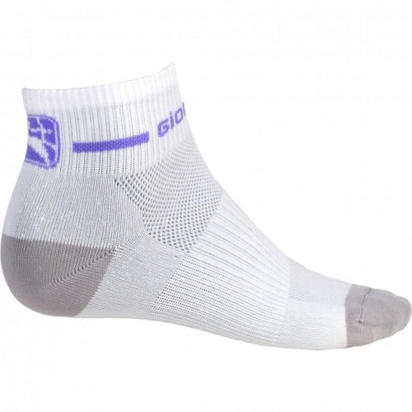 Giordana Cycling Women's Trade Sock Low Short Cuff - White-Purple - Classic Cycling