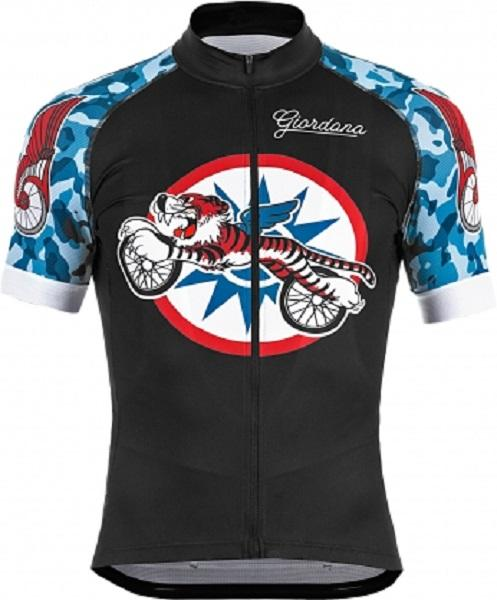 "Giordana Endurance Conspiracy ""Bike Club"" Scatto Jersey - Black - Classic Cycling"