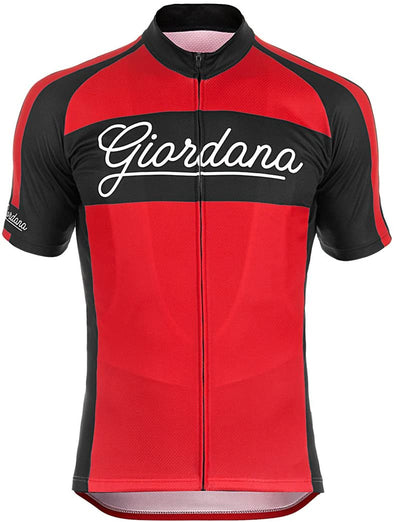 "Giordana Endurance Conspiracy ""Bomber"" Vero Jersey - Red - Classic Cycling"