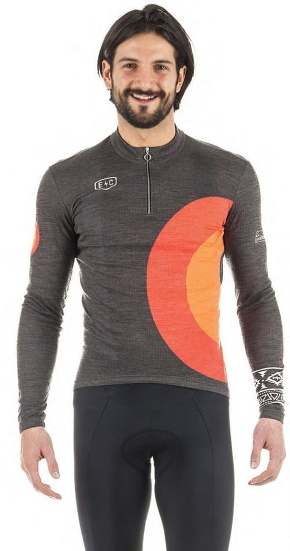 Giordana Endurance Conspiracy 'Centro' Wool Long Sleeve Jersey - Classic Cycling