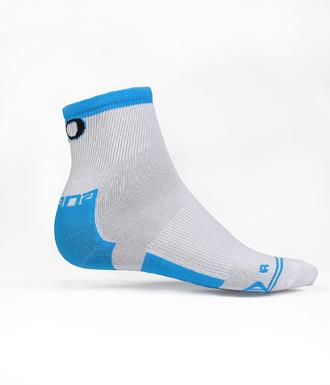 Giordana EXO Compression Sock Mid Height - White - Classic Cycling