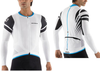 Giordana EXO Long Sleeve Cycling Jersey White - Classic Cycling